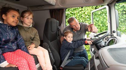 Trucker Yves confronteert leerlingen van De Bosrank met de gevaren van de dode hoek