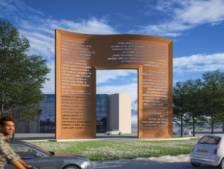 'Kunstwerk De Poort op Raoul Wallenbergplein'