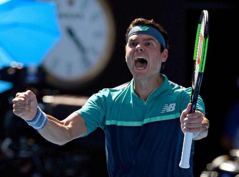 Raonic door het dolle heen na zijn zege tegen de winnaar van de Masters.