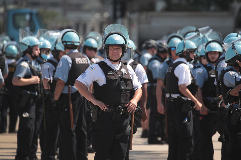 Politieagenten in Chicago.