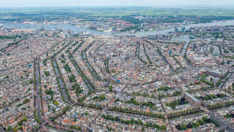 Het centrum van Amsterdam Beeld Lex van Lieshout
