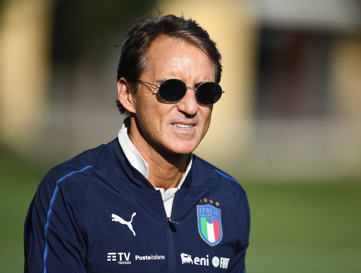 Roberto Mancini, de bondscoach van Italië.