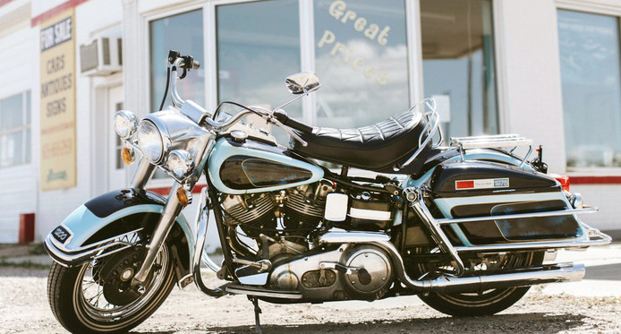 De Harley Davidson van Elvis Presley.