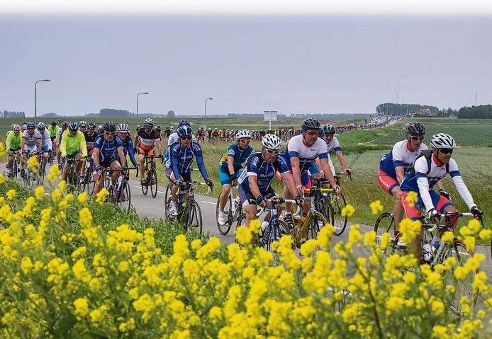 Het peloton van Ride for the Roses telt wel 5000 deelnemers.