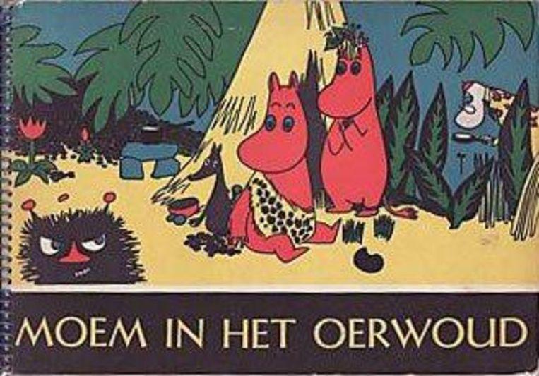 Cover van stripboek 'Moem in het oerwoud.' Uitgegeven door de Volkskrant in 1967. Beeld