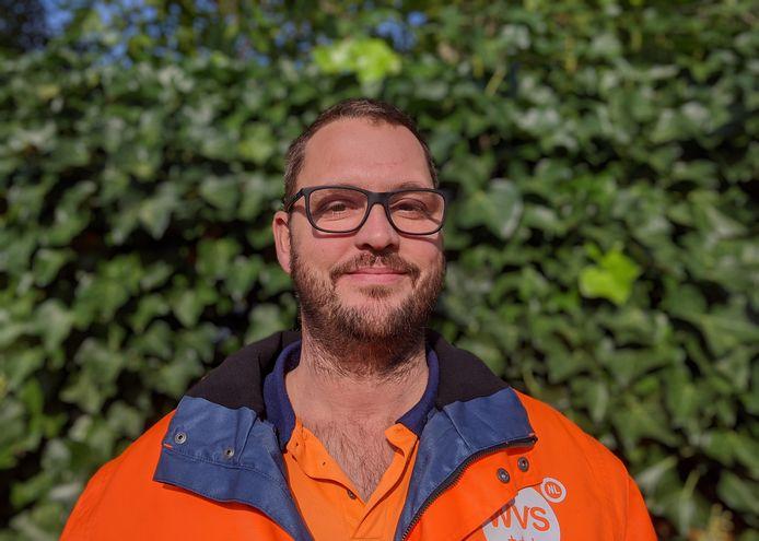 Marco Snoeijs, groenwerker in Zevenbergen (voorman).