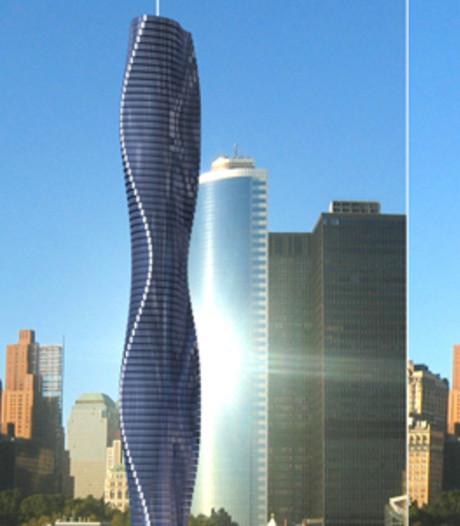 Draaiende wolkenkrabber in Dubai over drie jaar af