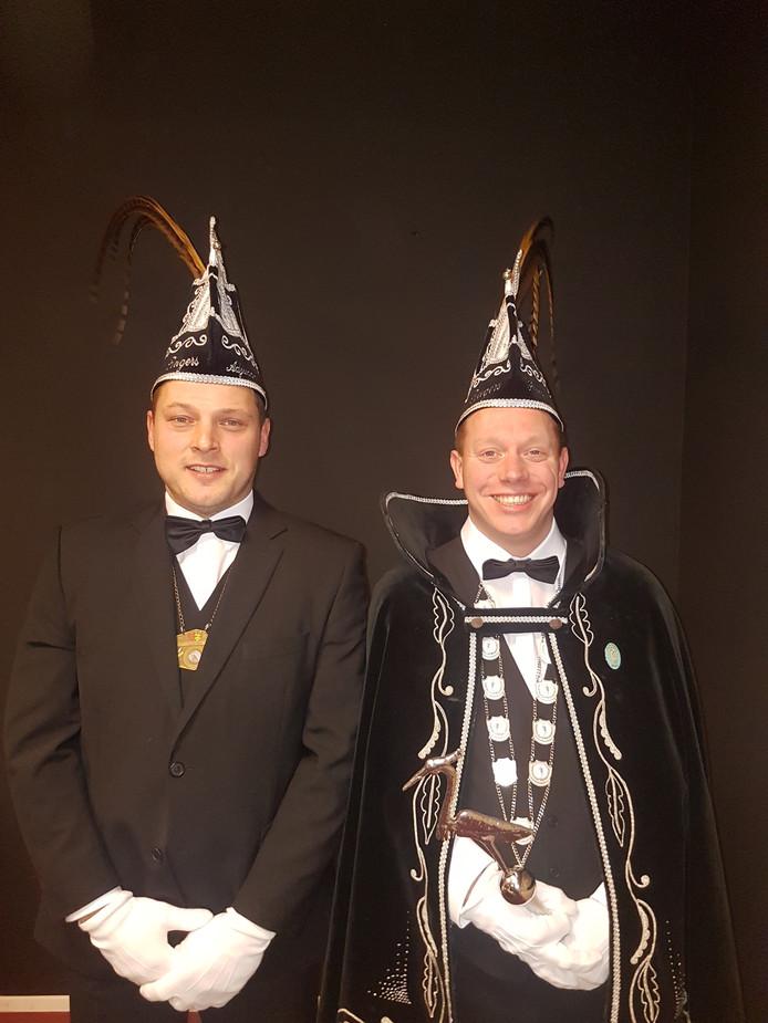 De nieuwe prins en adjudant in Zijtaart.