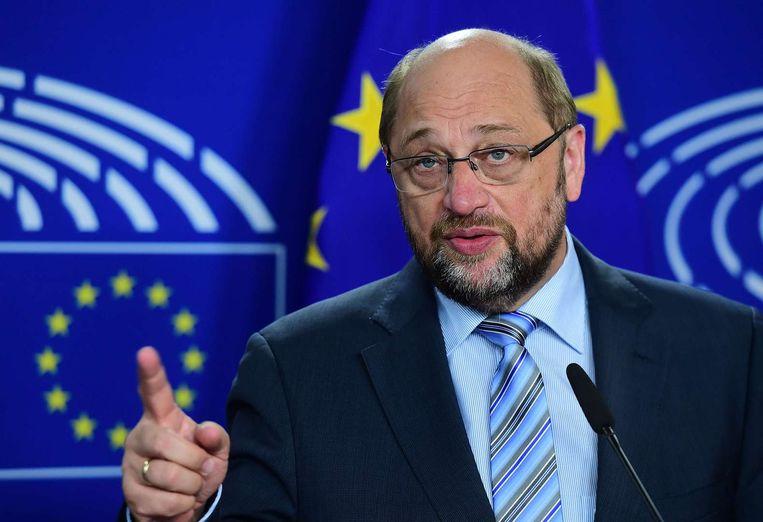 Voorzitter van het Europees Parlement Schulz Beeld null