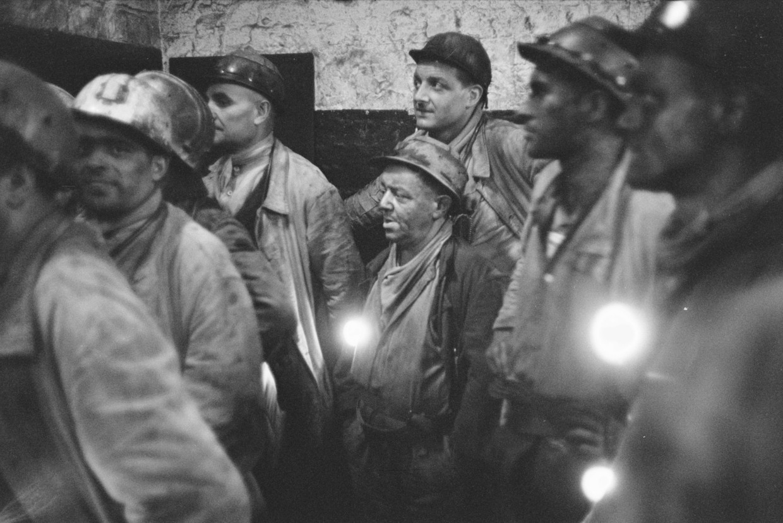Limburgse mijnwerkers in 1961.
