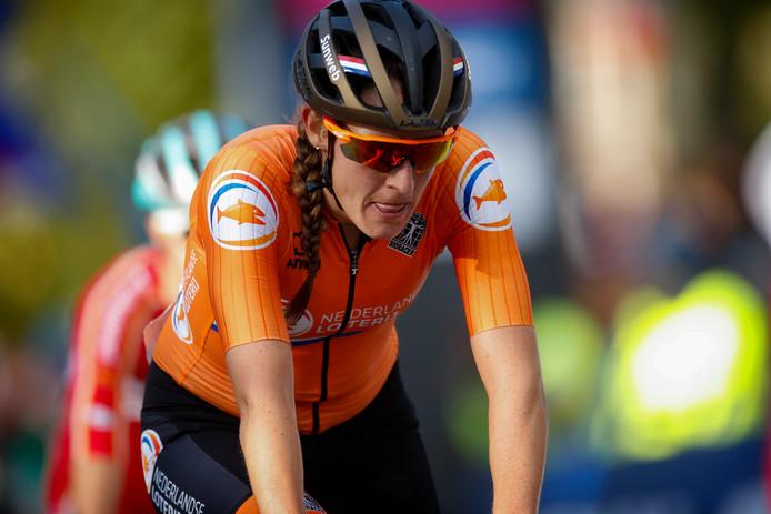 Archiefbeeld: Lucinda Brand tijdens de WK wielrennen op de weg