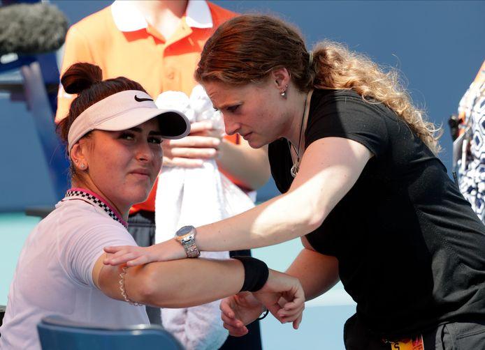 Bianca Andreescu moet in Miami gekwetst afhaken.
