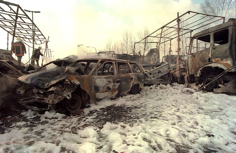 Bij de kettingbotsing in Nazareth in 1996 vielen tien doden.
