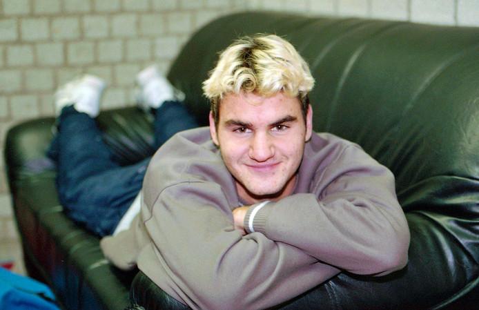Federer in 1999, het jaar van zijn Wimbledon-debuut.