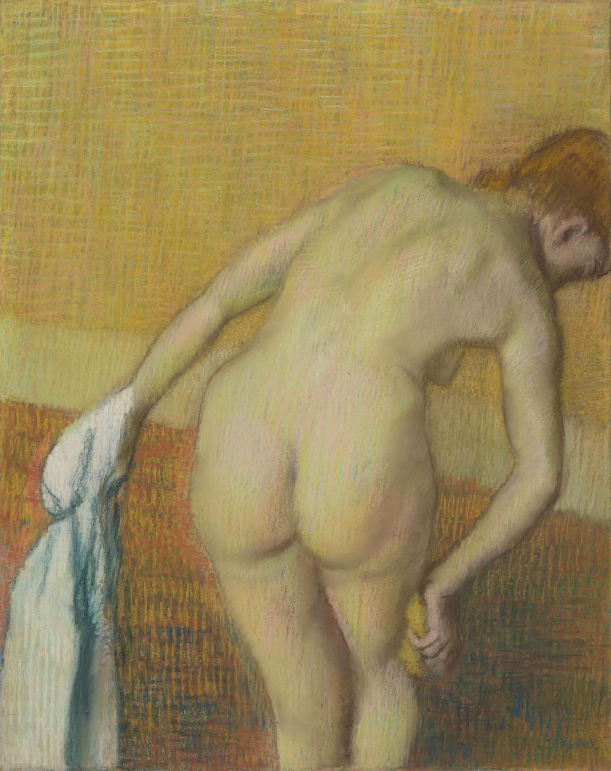De Badende vrouw van Edgar Degas (1834-1917).
