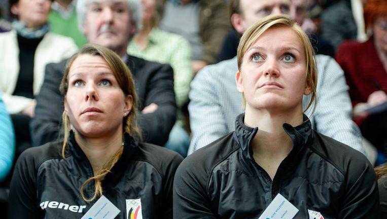 Hanna Mariën, hier links van die andere Belgian Bullet Elfje Willemsen, begint aan een nieuw hoofdstuk in haar leven.