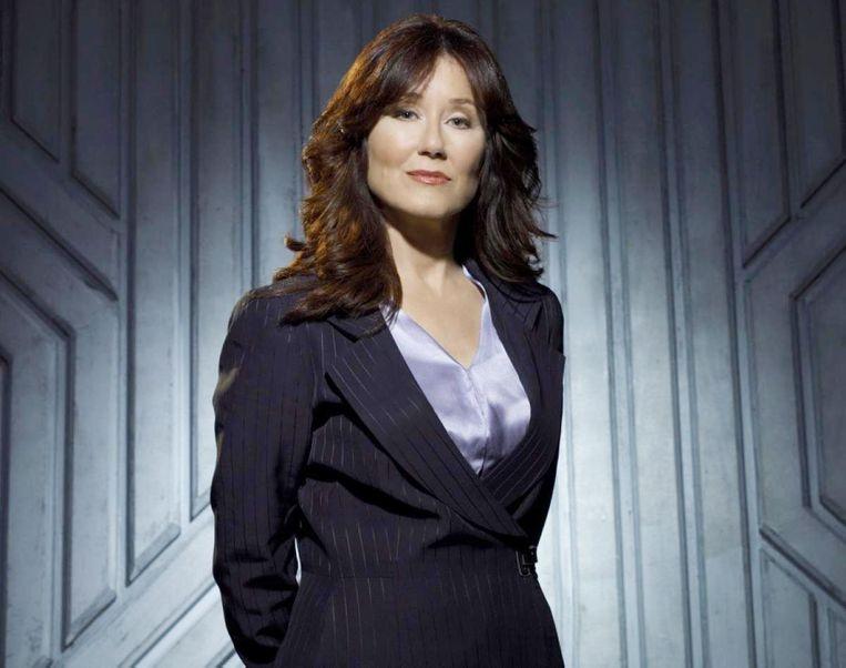 Laura Roslin (Mary McDonnell) uit de sciencefictionserie Battlestar Galactica Beeld
