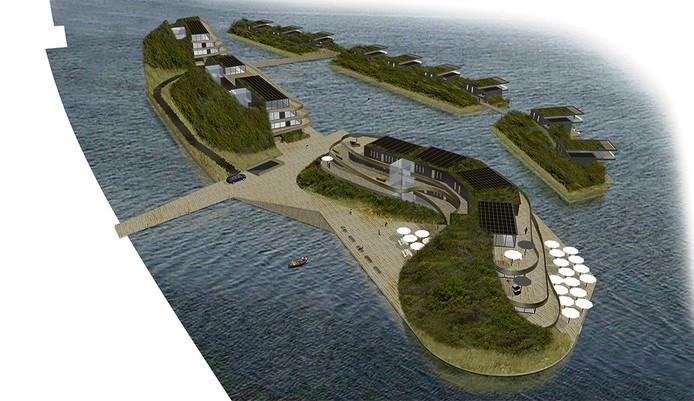 Het ontwerp voor de Zeeuwse Lagune.