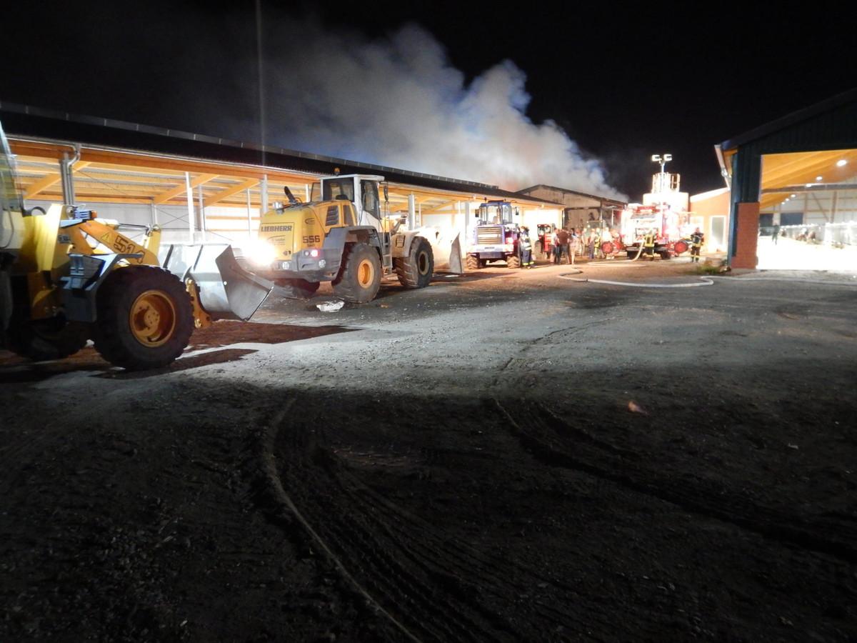 De brand in de stro-opslag in Lünten-Nork.