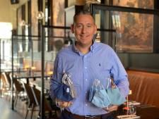 Gentenaar Jurgen (41) lanceert als eerste mondmaskerhouders voor op restaurant