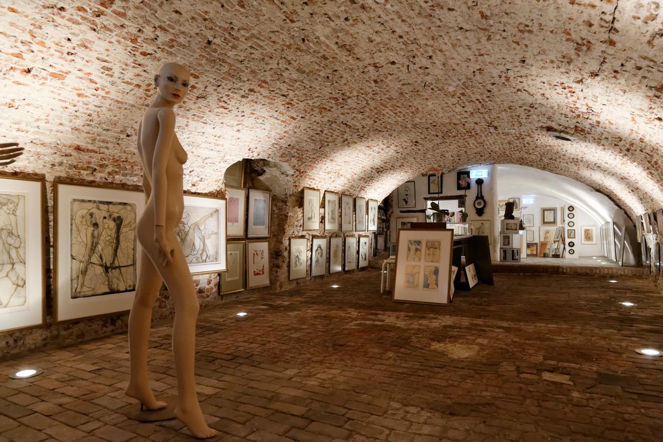 De kelder van het middeleeuwse pand aan de Bossche Markt, waar Jeroen Bosch zijn atelier had. foto Dirk Kreijkamp IPTCBron  Copyrights Dirk Kreijkamp  Jeroen Bosch Huis, iov Bert Damen, Den Bosch, 15 5 2015