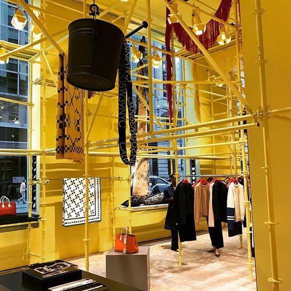 De flasghip store van Calvin Klein in New York die de deuren gaat sluiten.