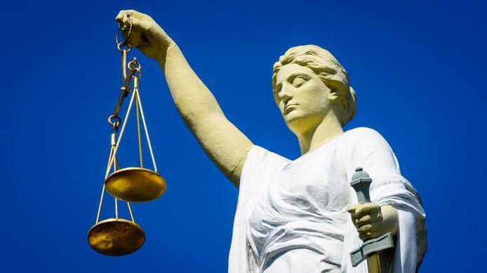 Vrouwe Justitia. ANP LEX VAN LIESHOUT
