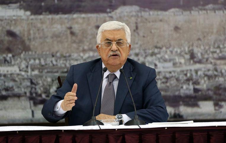 Mogelijk wordt ook de Palestijnse president Mahmoud Abbas aangeklaagd. Beeld epa