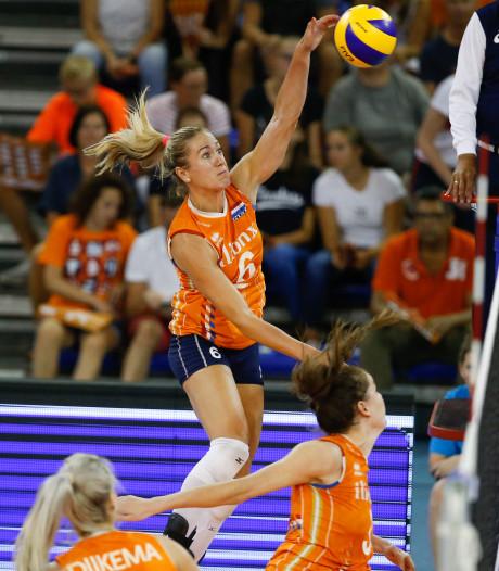 Net geen kroon op goede week volleybalsters Oranje in Eindhoven