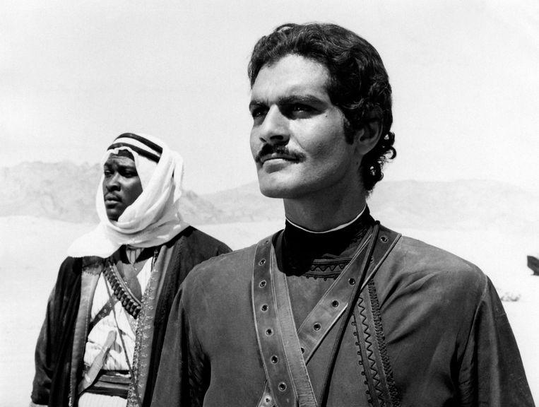 Omar Sharif (rechts) in Lawrence of Arabia (1962). Beeld Mondadori via Getty Images