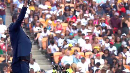 Alexander De Croo bespeelt als rockster gigantisch publiek in Zuid-Afrika