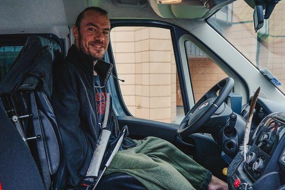 Remko (35) in zijn auto