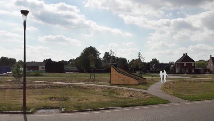 Het oorlogsmonument in Veen in de wijk De Eng.