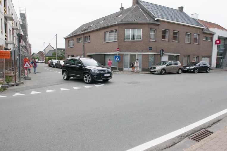 Aan het Sint-Hubertusplein is het bijzonder gevaarlijk om over te steken.