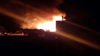 Hevige brand bij transportbedrijf in Tienen