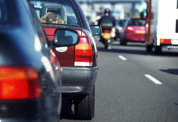 stockadr verkeer file auto snelweg