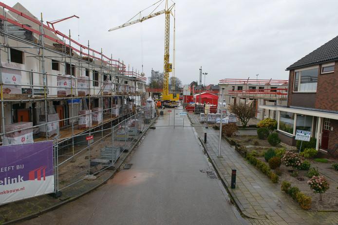 Nieuwbouw in de gemeente Berkelland, zoals het plan Op de Bleek in Eibergen, vormt maar een marginaal deel van de totale woningvoorraad.