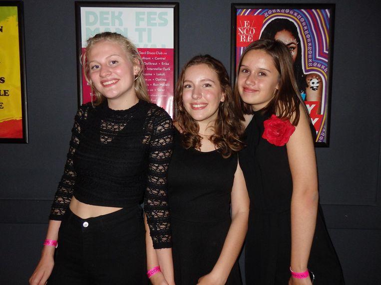 Gaan we nog meer van horen: de samenzang van Noor Hendriks, Anna Sollewijn en Nicky Dutrieux (vlnr). Beeld Schuim