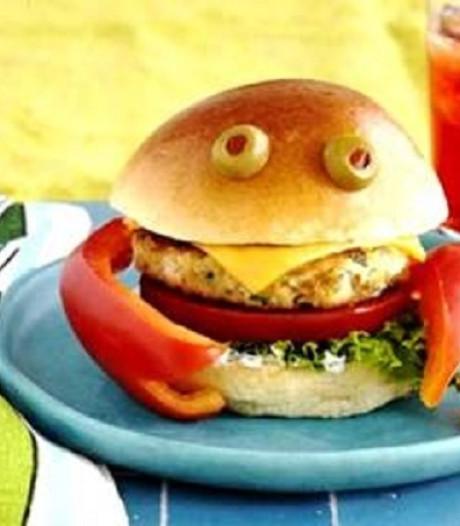 Zo maak je de SpongeBob-krabburger