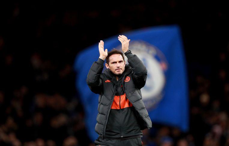 Chelsea-coach Frank Lampard beseft dat hij tevreden mag zijn met het gelijke spel.