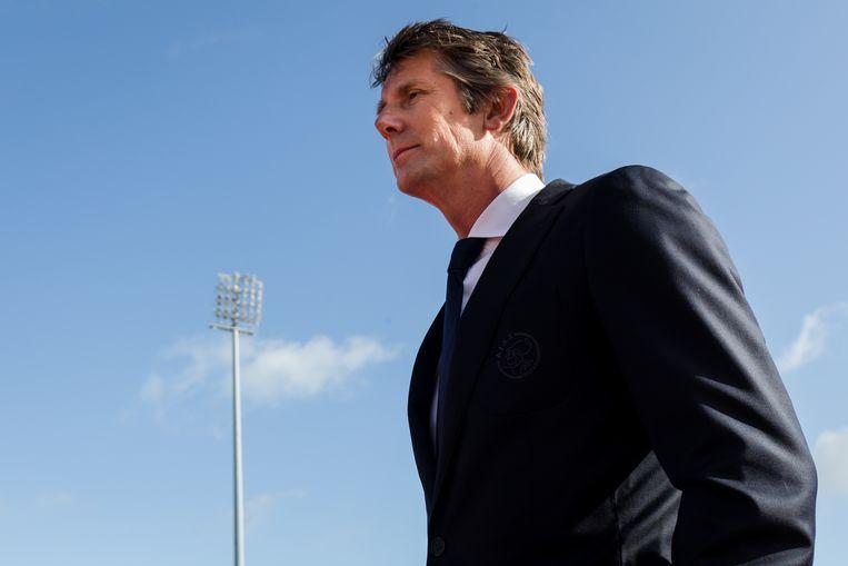 Algemeen directeur Edwin van der Sar in januari tijdens het trainingskamp van Ajax in Albufeira, Portugal. Beeld Erwin Spek