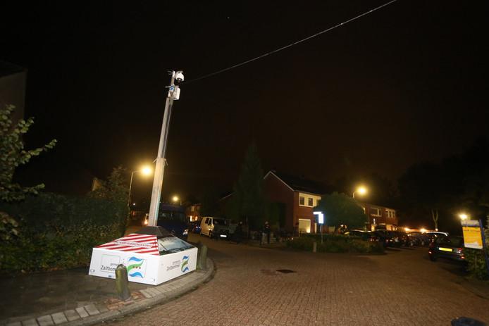 De beveiligingscamera op de hoek van de Morgenstraat en De Boogerd.