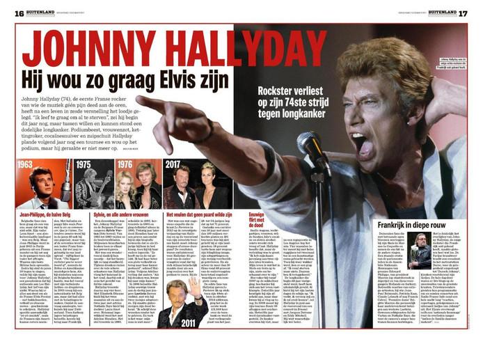 Het Nieuwsblad est lui aussi revenu sur la carrière du chanteur dans une double-page.