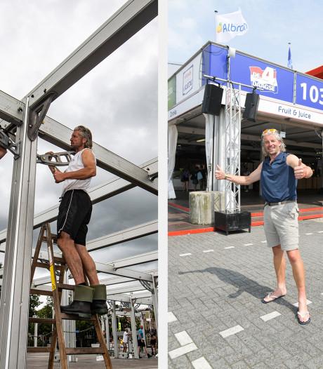 Ferry bouwt Wedren op en af, en loopt tussendoor 200 kilometer: 'Begon met een weddenschap'