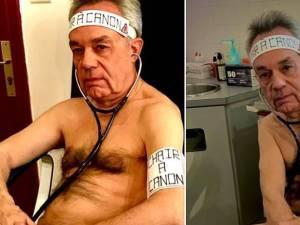 """Un médecin pose nu pour dénoncer le sort des soignants, traités comme """"de la chair à canon"""""""