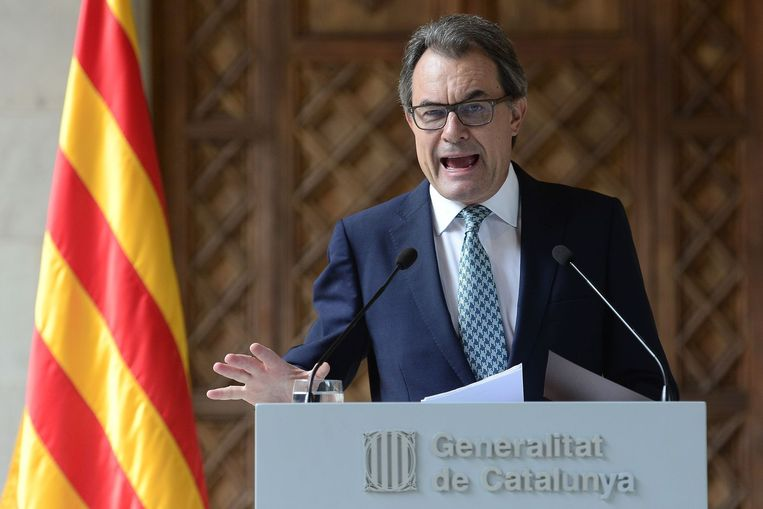 Catalaanse regiopresident Artur Mas Beeld anp