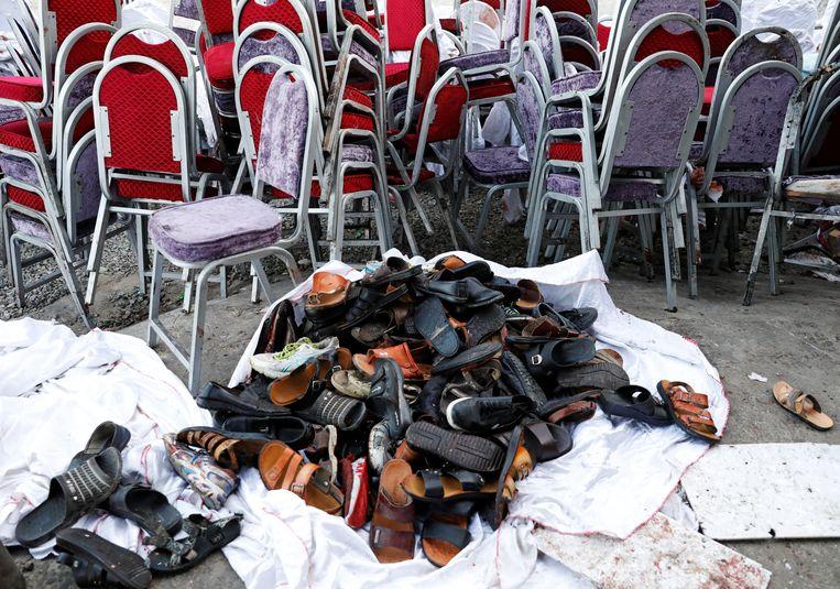 De veiligheidsdiensten hebben de schoenen van dodelijke slachtoffers verzameld.