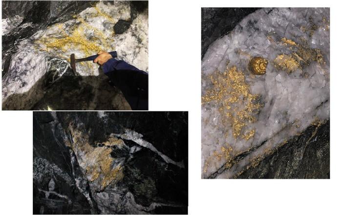 Het gevonden goud in de Beta Hunt Mine in Australië.