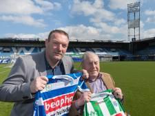 PEC Zwolle herdenkt Dries Jans tegen FC Utrecht