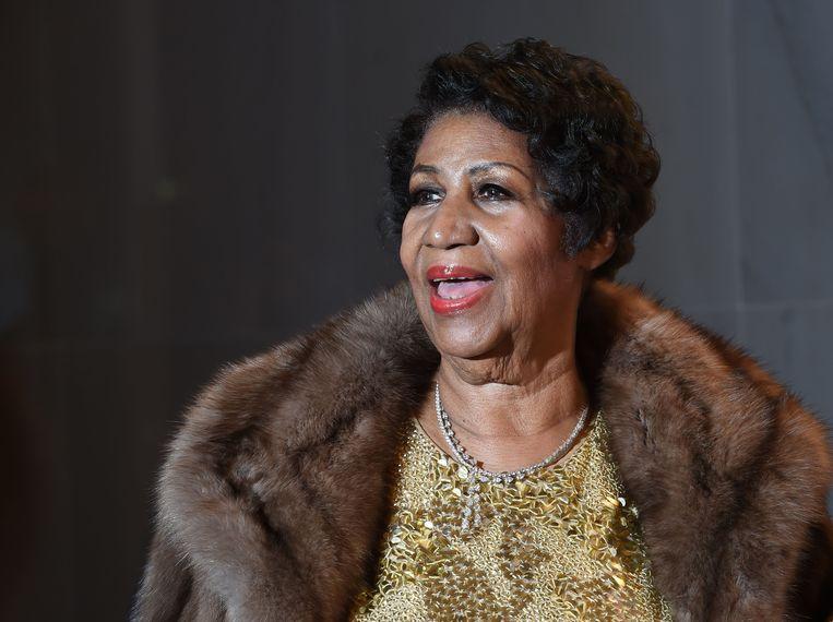 December 2015 bij de jaarlijkse uitreiking van de Kennedy Center Honors-onderscheidingen in de Amerikaanse hoofdstad Washington. Ze zong er voor onder meer een geëmotioneerde president Obama een onvergetelijke versie van (You Make Me Feel Like) A Natural Woman. Beeld AFP